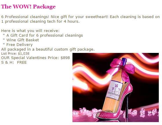 Elizabeth City Cleaning Service Valentine 39 S Day Packages
